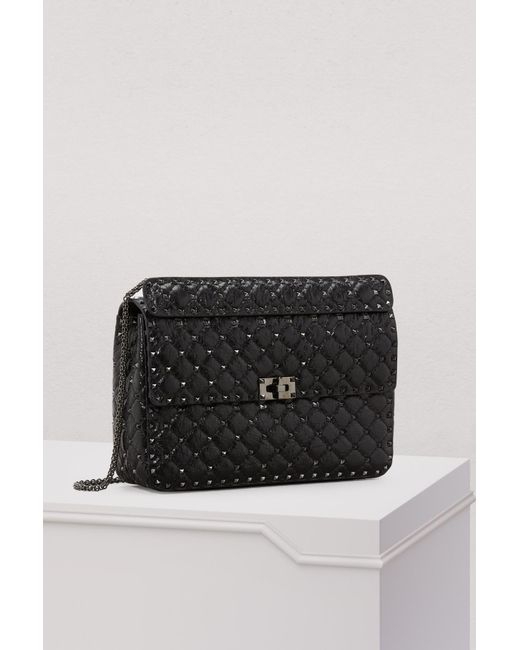 91fbe9647a8 ... Valentino - Black Gavarani Rockstud Large Spike Shoulder Bag - Lyst ...