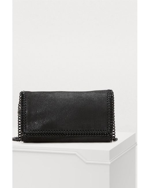 8406b11c1dd2 Stella McCartney - Black Shaggy Deer Falabella Shoulder Bag - Lyst ...