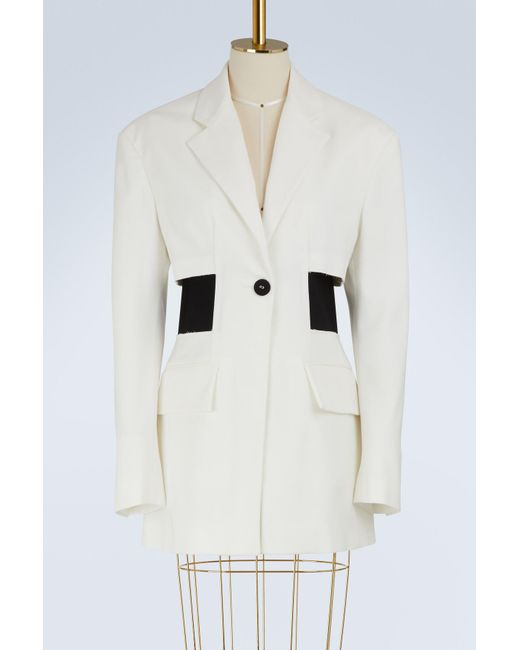 0d1566680fc60c Proenza Schouler One Button Jacket in White - Save 76% - Lyst