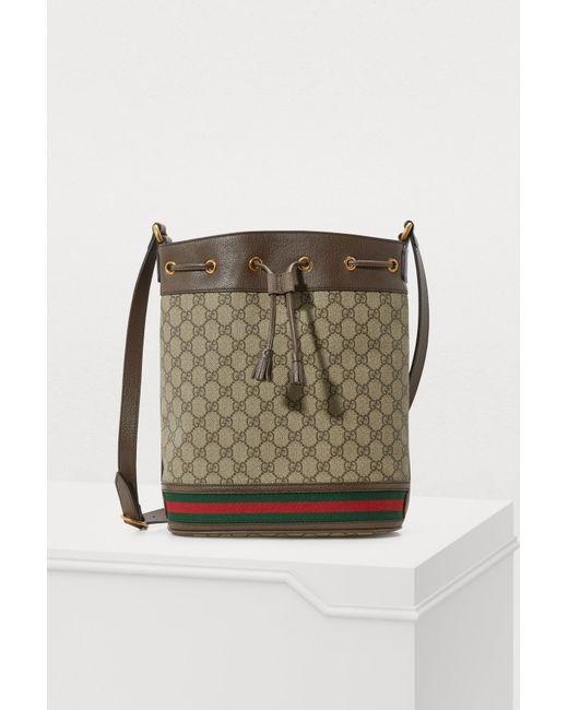 12409c61c672 Gucci - Natural GG Supreme Bucket Bag - Lyst ...