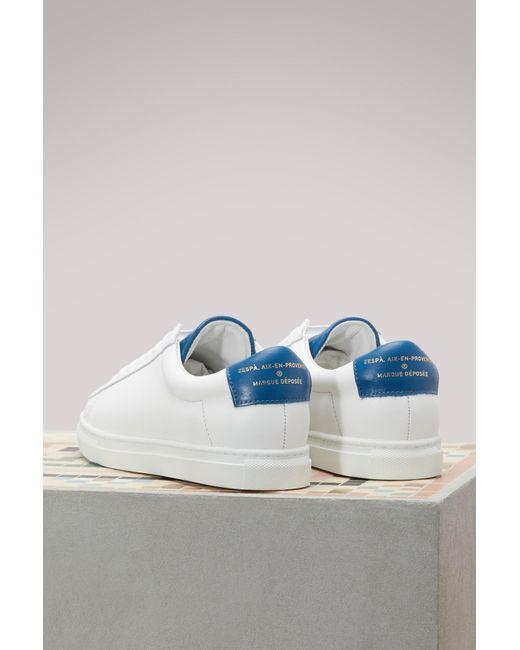 Nappa sneakers with metallic detail Zesp z3ZfliIN