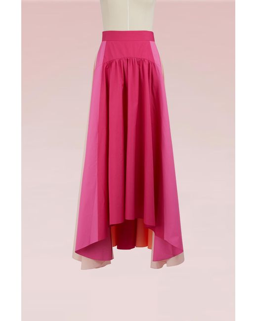Peter Pilotto - Pink Panelled Cotton Skirt - Lyst