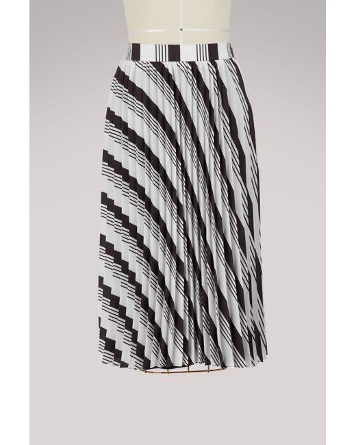 Balenciaga - Black Sunray Pleated Midi Skirt - Lyst