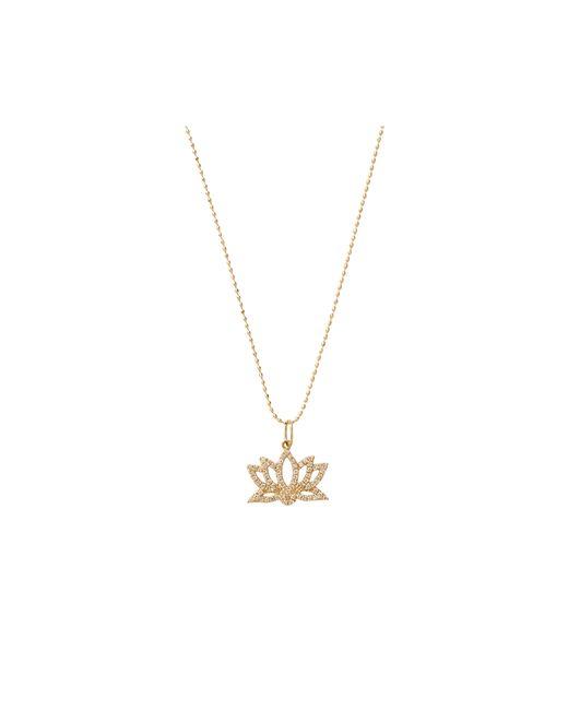 Sydney Evan | Metallic Diamond Lotus Necklace | Lyst