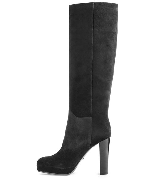 sergio suede knee boots black in black save 50