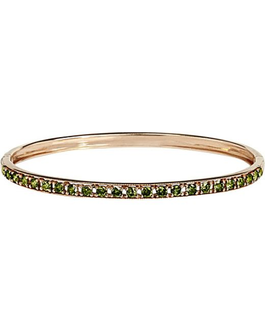 Annoushka | Green Dusty Diamonds 18ct Rose-gold And Diamond Line Bangle | Lyst