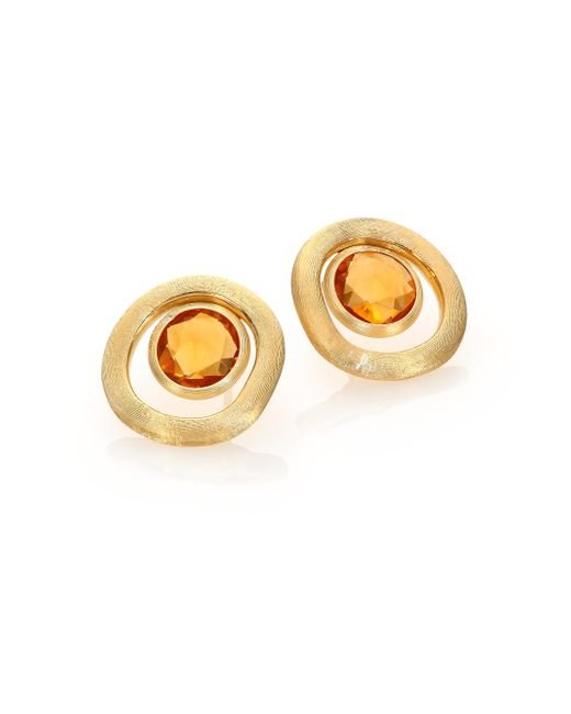 Marco Bicego | Metallic Jaipur Color Citrine & 18k Yellow Gold Stud Earrings | Lyst