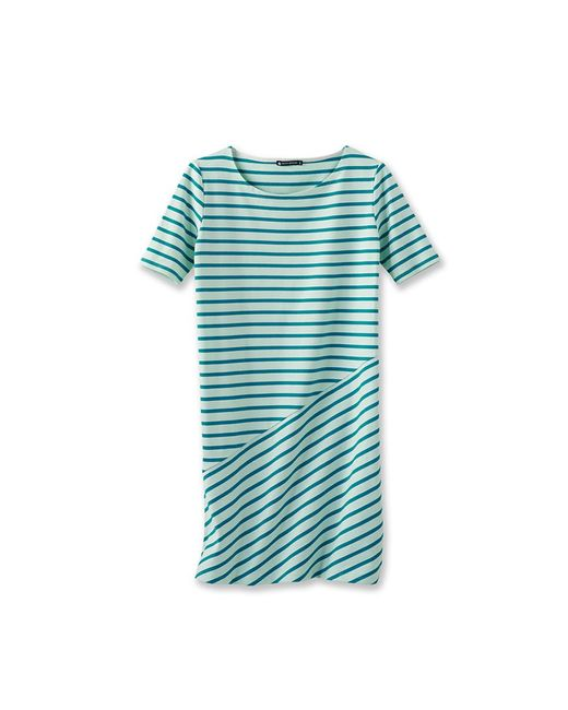 Petit Bateau | Green Women's Sailor Striped Dress | Lyst