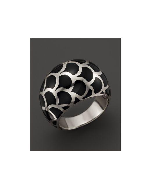 John Hardy | Metallic Naga Sterling Silver Enamel Dome Ring With Black Enamel | Lyst