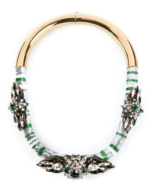Shourouk | Green 'mamba' Necklace | Lyst