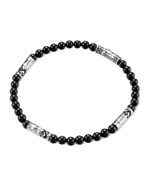 John Hardy | Metallic Men's Batu Dayak Silver Bead Bracelet In Onyx for Men | Lyst