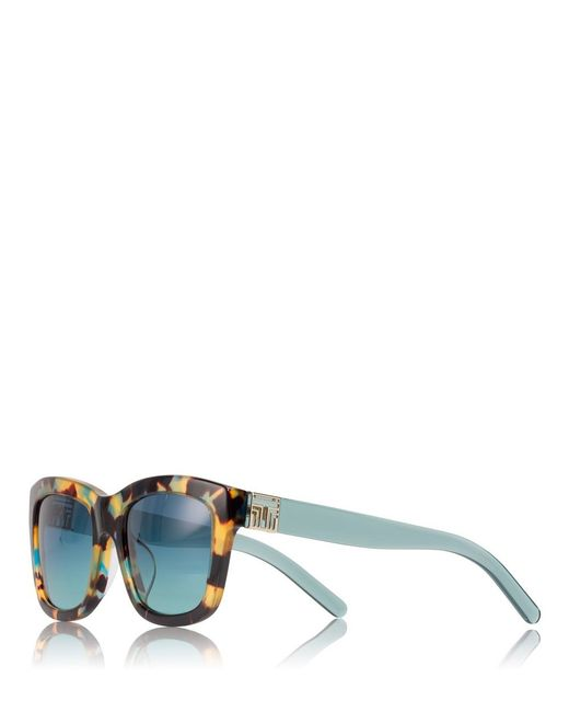 Tory Burch | Blue Fret-t Square Sunglasses | Lyst