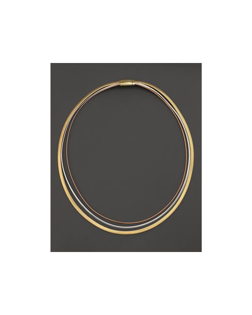 Marco Bicego | Metallic Rose & White Gold Goa Collar Necklace | Lyst