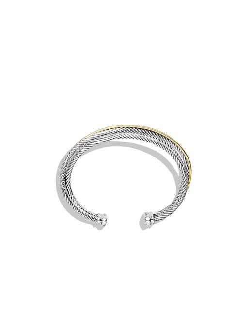 David Yurman | Metallic Crossover Three-row Cuff With Gold | Lyst