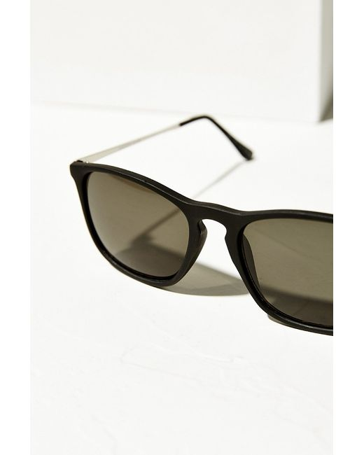 Urban Outfitters   Black Boyfriend Slim Square Sunglasses   Lyst