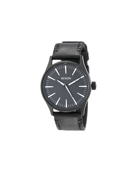 Nixon | Black The Sentry 38 Leather | Lyst