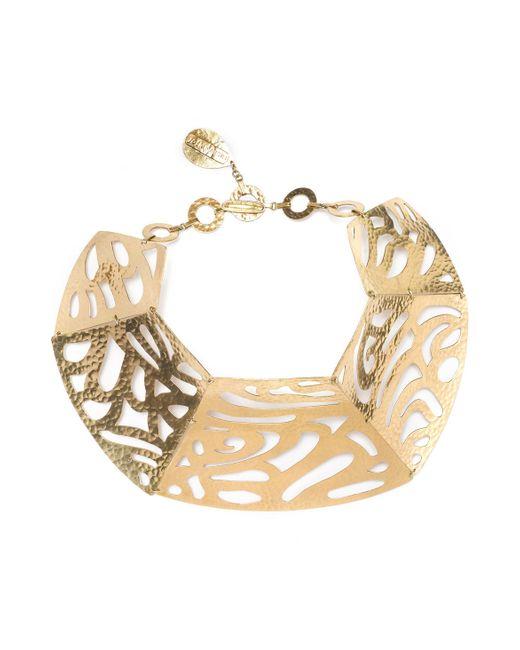 Natori   Metallic Gold Cutout Necklace   Lyst