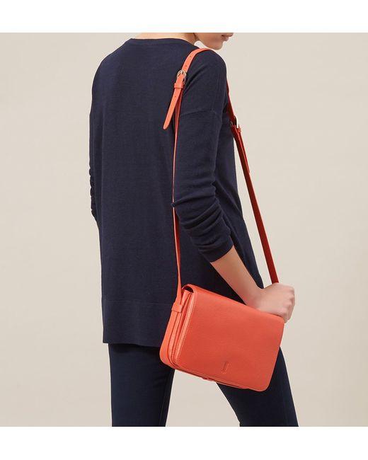 Hobbs | Orange Adlington Satchel | Lyst
