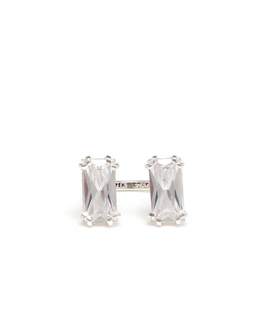 Maria Stern | Metallic Sterling Silver And Crystal Ring | Lyst