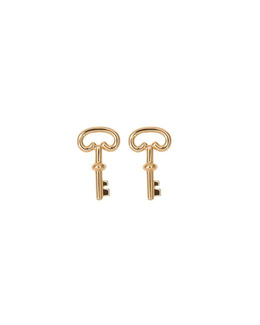 Aurelie Bidermann | Metallic Fine Jewellery - 18k Key Single Earring With Diamond | Lyst