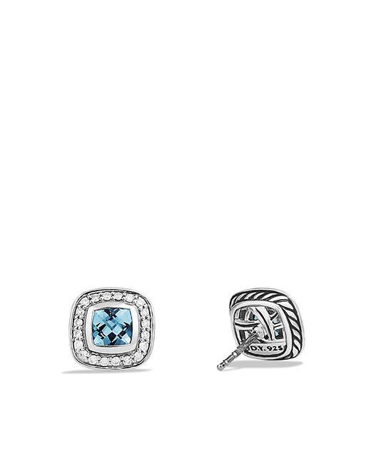 David Yurman | Petite Albion Earrings With Blue Topaz And Diamonds | Lyst