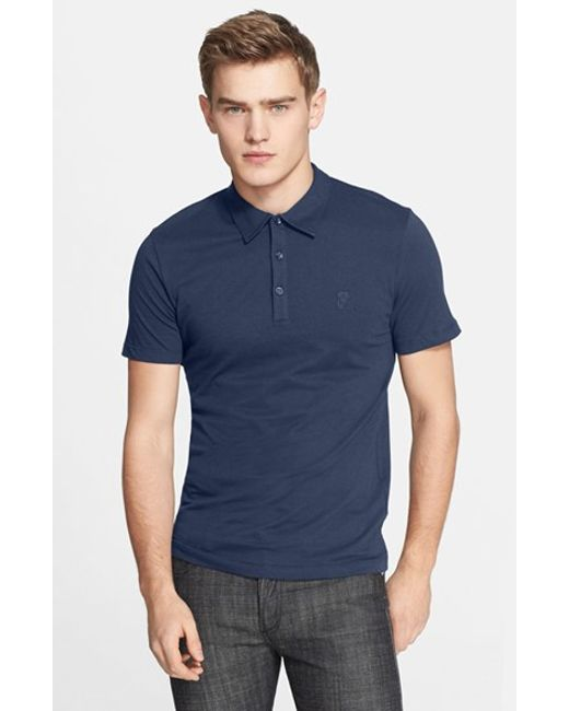 Versace | Blue 'medusa' Polo for Men | Lyst