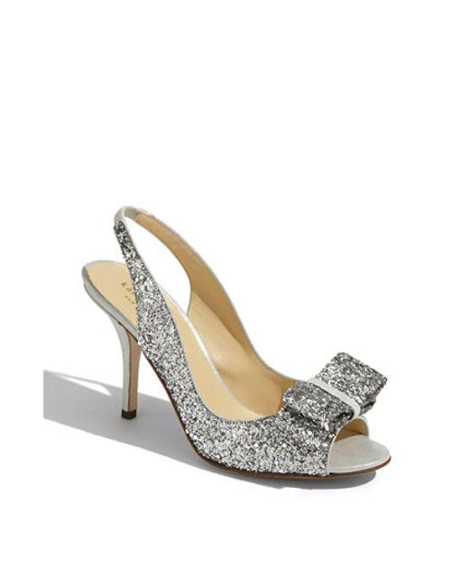kate spade new york | Metallic 'charm' Slingback Pump | Lyst