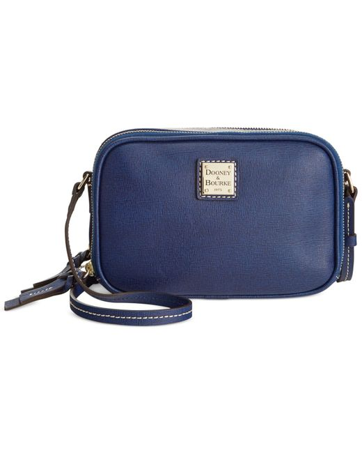 Dooney & Bourke | Blue Saffiano Sawyer Crossbody | Lyst