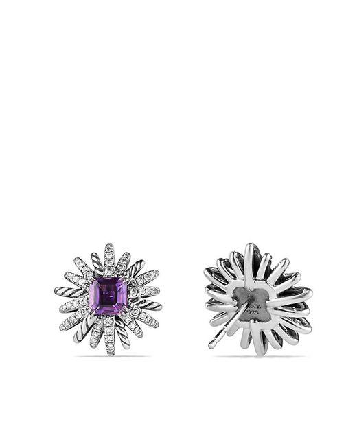 David Yurman | Purple Starburst Earrings With Amethyst | Lyst