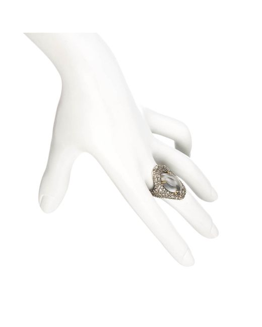 Alexis Bittar | Metallic Silver Gaze Marquis Drama Ring With 18k Gold Marquis You Might Also Like | Lyst