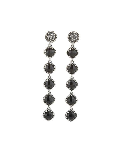 Konstantino   Black Long Silver & Onyx Dangle Earrings   Lyst