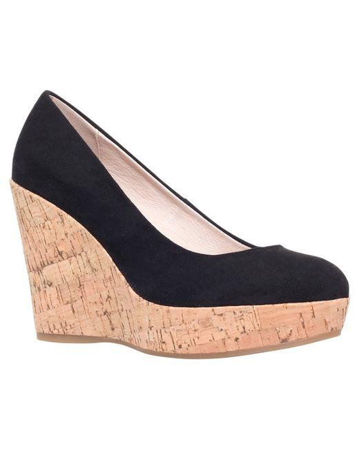 Carvela Kurt Geiger   Black Attend Wedge Heeled Court Shoes   Lyst