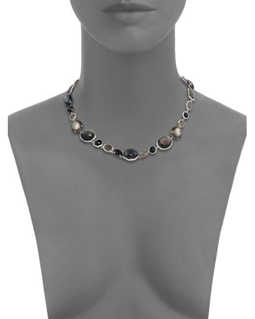 Ippolita | Metallic Rock Candy Black Tie Semi-precious Multi-stone & Sterling Silver Mixed Collar | Lyst