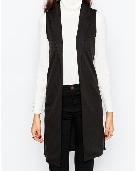 Brave soul tall sleeveless jacket in black lyst for Tall sleeveless t shirts