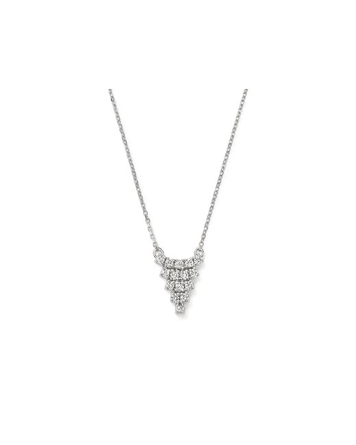 KC Designs | Metallic Diamond Triangle Pendant Necklace In 14k White Gold, 16"