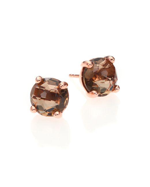 Ippolita | Pink Rose Rock Candy Mini Smoky Quartz Stud Earrings | Lyst