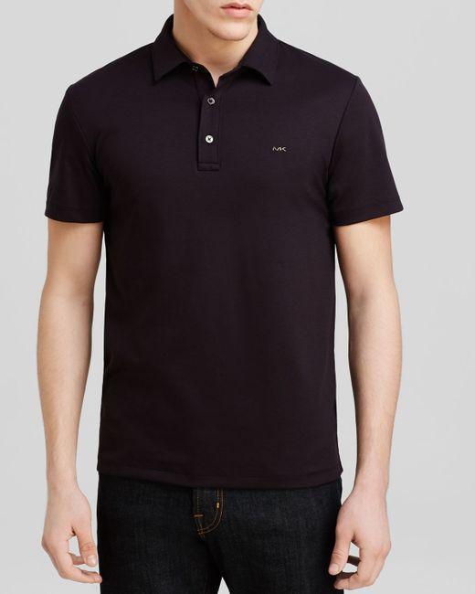 Michael Kors | Black Sleek Logo Polo - Regular Fit for Men | Lyst