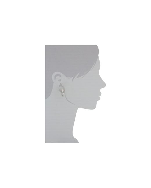 Vince Camuto | Metallic Viva La Vince Crystal Two Part Drop Earrings | Lyst