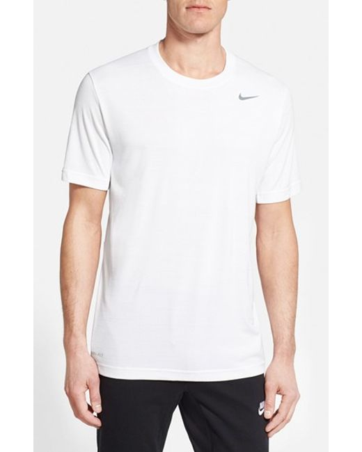 Nike | White Dri-Fit Touch Heathered Short Sleeve T-Shirt for Men | Lyst