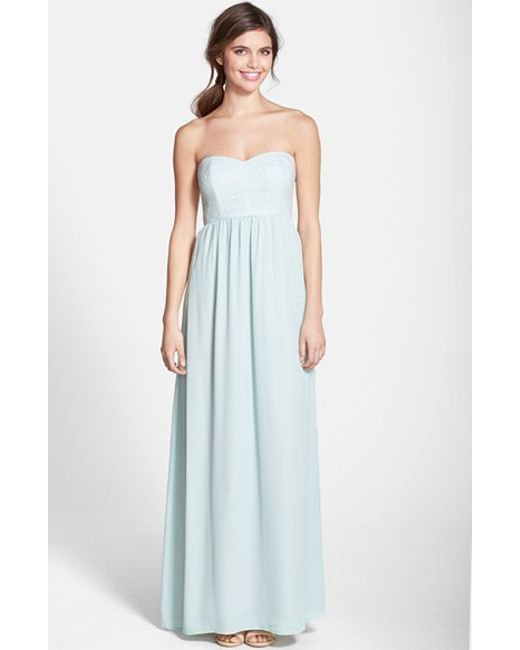 Paper Crown | Blue By Lauren Conrad 'breanna' Lace Bodice Crepe Gown | Lyst