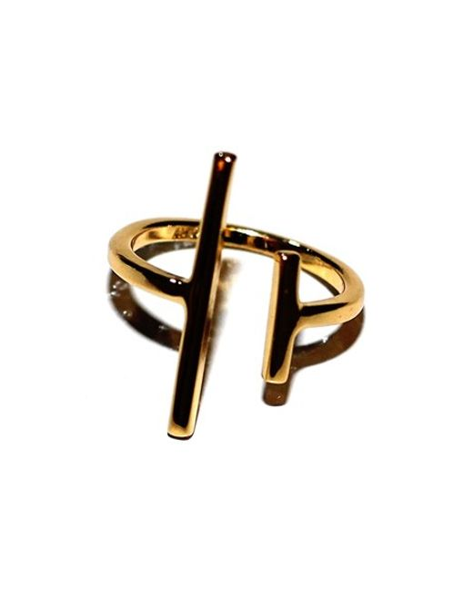 Argento Vivo | Metallic Asymmetrical Double Bar Ring | Lyst