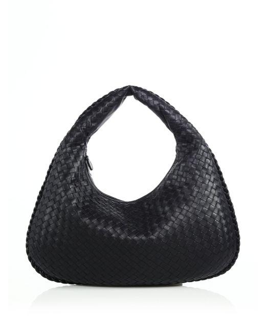 Bottega Veneta | Black Veneta Medium Hobo Bag | Lyst