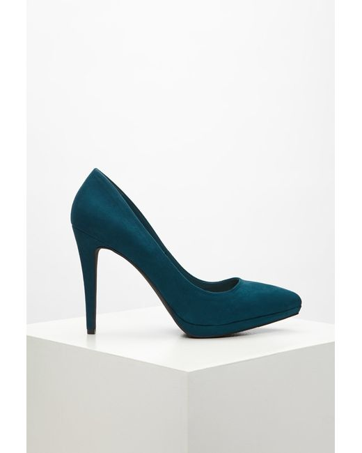 Forever 21 | Blue Pointed Faux Suede Pumps | Lyst