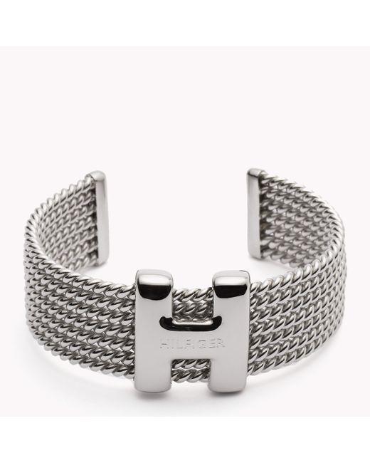 Tommy Hilfiger | Metallic H Cuff | Lyst