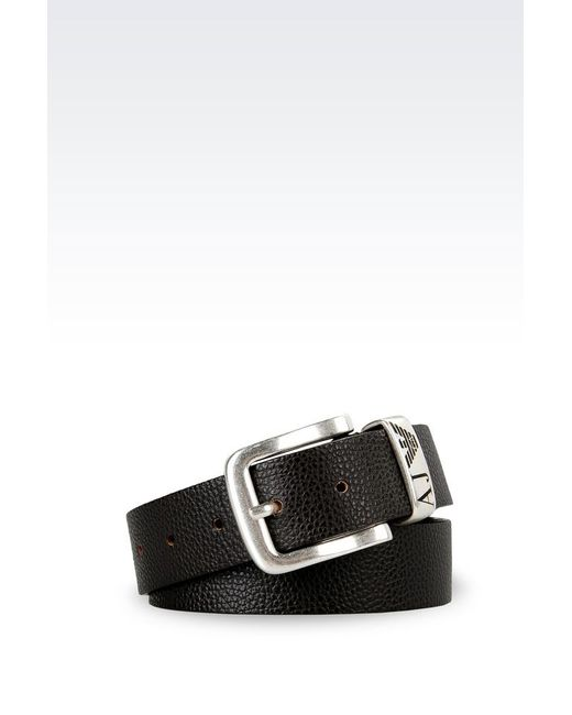 Armani Jeans | Brown Leather Belt for Men | Lyst