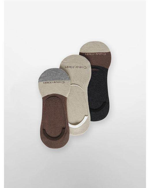 Calvin Klein | Natural Underwear 3 Pack Colorblock No-show Shoe Liners | Lyst
