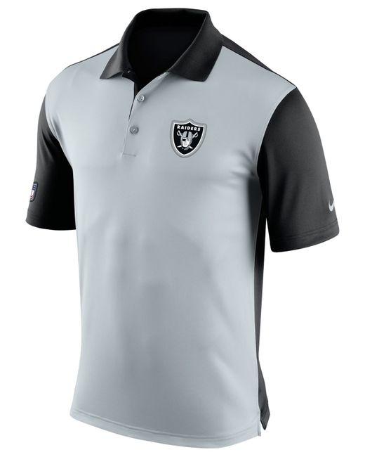 Nike Men 39 S Oakland Raiders Preseason Polo In Black For Men