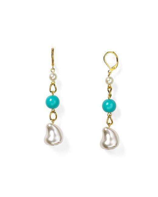 Kenneth Jay Lane | Blue Beaded Drop Earrings | Lyst