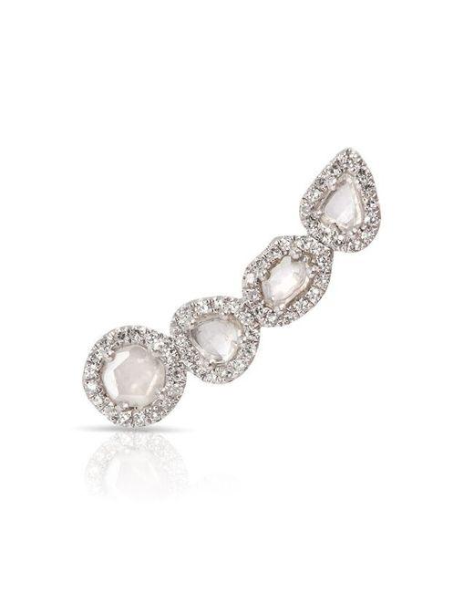 Anne Sisteron | Metallic 14kt White Gold Diamond Slice Ear Climber | Lyst