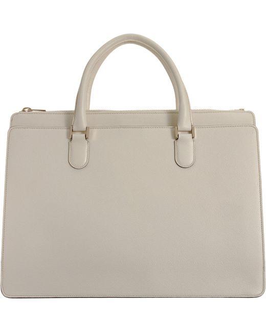 Valextra   White Madison Working Bag   Lyst